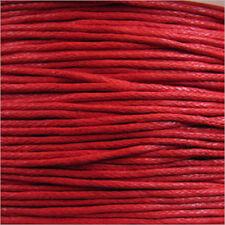 Cordon Coton Ciré 0,8mm – 5 Mètres Rouge pour Colliers et Bracelets de perles