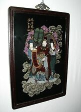 CHINESE VINTAGE IMPERIAL REVERSE GLASS HANF PAINT WALL HANGING