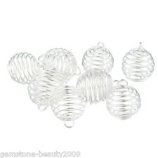 GB 20PCs Spiral Bead Cages Pendants Findings 25x20mm