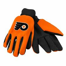 Philadelphia Flyers Gloves Sports Logo Utility Work Garden NEW Colored Palm