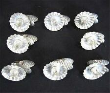 8 Vtg Christmas Tree Aluminum Clip-On Candle Holders Lights Metal