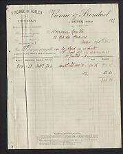 """RONCQ (59) TISSAGES / COUTILS & SATINS damassés """"VIENNE & BONDUEL"""" en 1924"""