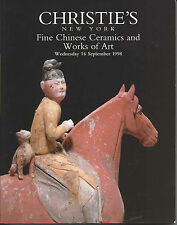CHRISTIE'S CHINESE CERAMICS JADES SNUFF BOTTLES BRONZES TANG FIGURES Catalog 98