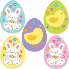 10 x Mini Easter Cutouts Decorations CUT OUTS Chicks & Bunys FREE P&P