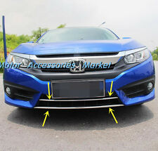 New Chrome Lower Grille Cover Trim For Honda Civic 2016