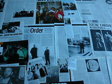 NEW ORDER - MAGAZINE CUTTINGS COLLECTION (REF Z19)