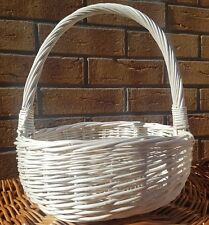 Small-Wicker  Basket Tray Food Hamper Bread Easter  Fruit Willow -handmade