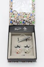 Original Penguin by Munsingwear Cufflinks & Tie Clip Set in Giftbox Diamond Club