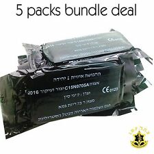 5X Green IDF Personal Wound Field Bandage Pad Dressing Vacuum Sealed IFAK Israel
