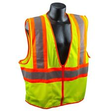 Class 2 Mesh Safety Vest Lime Yellow Orange L Large