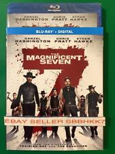 The Magnificent Seven 7 (Blu Ray + Digital, 2016) & SLIPCOVER New Free Shipping