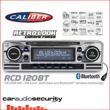 Clásicos Estilo Retro RCD120BT Bluetooth CD MP3 USB AUX REPRODUCTOR DE RADIO estéreo de coche plata