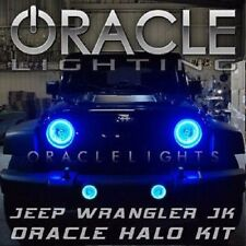 2007-2015 Jeep Wrangler Oracle Blue LED Headlight & Fog Light Halo Kit