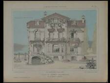 LE CANNET, VILLA -1921- PLANCHES ARCHITECTURE- STOECKLIN, VINCENNES, WILLAEY