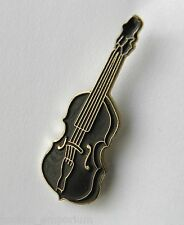 CELLO STRING INSTRUMENT DARK CHESTNUT BROWN SMALL LAPEL PIN BADGE 3/4 INCH