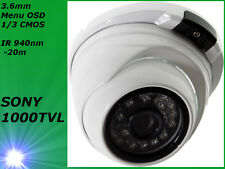 1000TVL Dome Kamera SONY 238 outdoor vandalensicher IR 940nm unsichtbare LED
