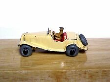 Matchbox Lesney No.19a MG Midget TD (CREAM, WITH DRIVER! GOOD CONDITION)