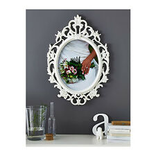 IKEA Vintage Large Picture Frame White Oval UNG DRILL