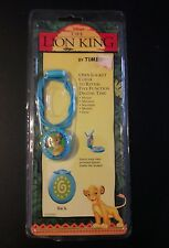 New NIP Disney The Lion King Simba Locket Digital Watch Necklace Timex Kid Child