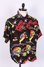 VTG PLANET HOLLYWOOD 100% RAYON HAWAIIAN SHIRT MENS SIZE LARGE USA