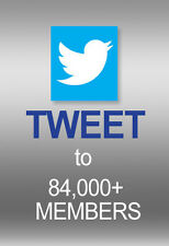 Twitter advertising to 84,000 People, Retweets 5 times....Increase SEO