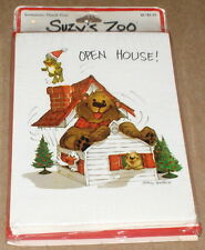 Suzy's Zoo Christmas Open House Invitations (10) w/ Envelopes