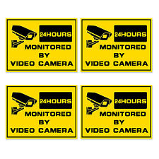 4pcs * Warning Decal sign video alarm surveillance stickers property protector