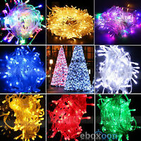 100er 200er LEDs Weihnachten Party LED Lichterkette Kette Leuchte Außen Innen