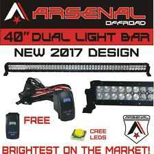#1 40 inch LED CREE Light Bar by Arsenal Offroad 228w Spot Flood Combo beam