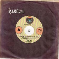 "FOGHAT - THIRD TIME LUCKY (FIRST TIME I WAS A FOOL) - RARE 7"" VINYL RECORD 1979"