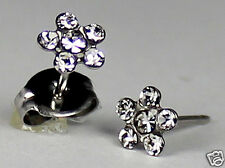 Studex Sensitive Stainless Steel Clear Crystal 5.25mm Daisy Stud Earrings