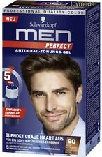 Schwarzkopf MEN PERFECT Anti-Grau Tönung Gel 60 Natur Mittelbraun AntiGrey Toner