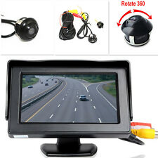 "360° Front/Sides/Rear Reverse Parking HD Camera +4.3"" LCD Color Display Monitor"