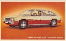 THE FIRST CHEVY OF THE 80's CITATION 4-DOOR HATCHBACK SEDAN 1980
