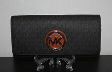 NWT MICHAEL Michael Kors Brown Fulton Carryall Wallet