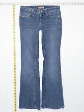 Paris Blues Low Rise Flare 3 Short Juniors Womens Blue Jeans Pants Stretch C0522
