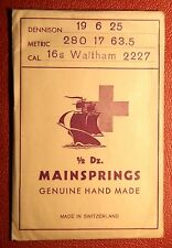 NOS GENUINE WALTHAM 16s MAINSPRING 2227 WATCH PART