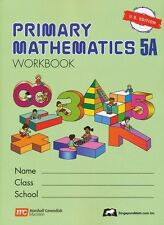 Singapore Math Primary Math Workbook 5A US Ed-FREE Expedited Shipping UPGD W $45