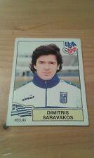 N°279 DIMITRIS SARAVAKOS # HELLAS PANINI USA 94 WORLD CUP ORIGINAL 1994