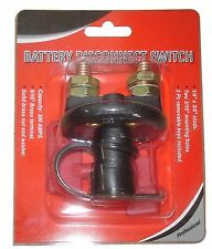 Battery Cut Off Disconnect Kill Switch w/ Removable Key Power Cutoff Anti Theft