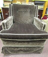 VINTAGE RETRO 1970'S FABRIC LOUNGE CHAIR SOFA CHARCOAL RARE SOLID NICE COUCH