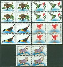 SURINAME : 1993-95. Scott #731-35 Birds. High Values. 4 sets. VF MNH. Cat $437.