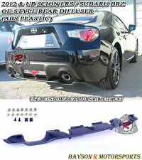 OE-Style Rear Diffuser (ABS) Fits 12-17 Scion FR-S Toyota 86