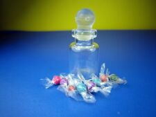 ์NEW CANDY SWEET TOFFEE BOTTLE GLASS JAR DOLLHOUSE FOOD MINIATURE TINY CUTE