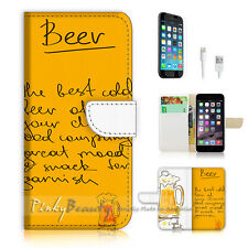 iPhone 7 (4.7') Flip Wallet Case Cover P0500 Beer
