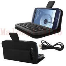 Leather Case Cover Stand Wireless Bluetooth Keyboard for Samsung Galaxy S3 I9300