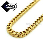 """MEN Stainless Steel 4.5mm/6mm Gold Franco Box Cuban Curb Chain Necklace*24""""30""""36"""