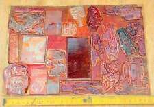 Konvolut Klischees Druckplatten original Druckerei letterpress printing plates