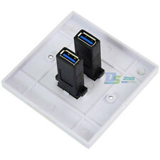 Brand New Dual USB Wall Charger Station Socket Adapter Power Outlet Panel USB3.0