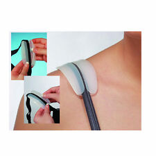 2 Silicone Non Slip Shoulder Pads Bra Strap Cushion Pain Relief Comfort Lady New